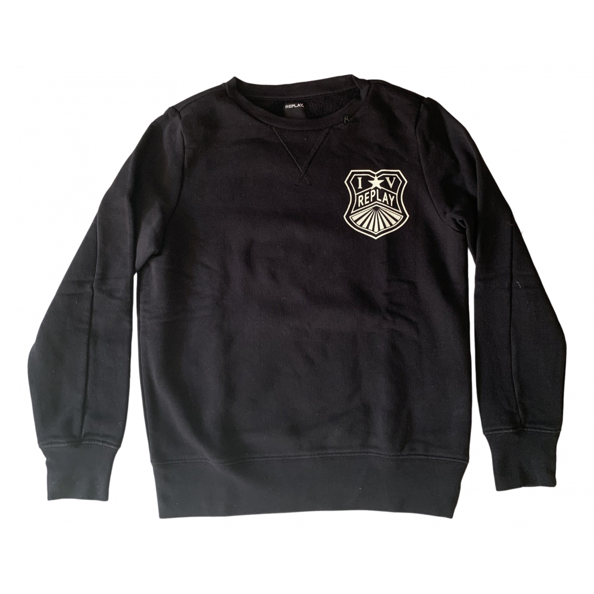 Replay N Black Cotton  top for Kids 12 years - XS FR