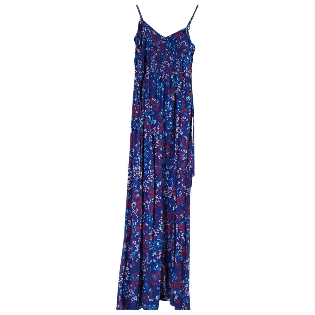 Parker Ny \N Kleid in  Blau Seide