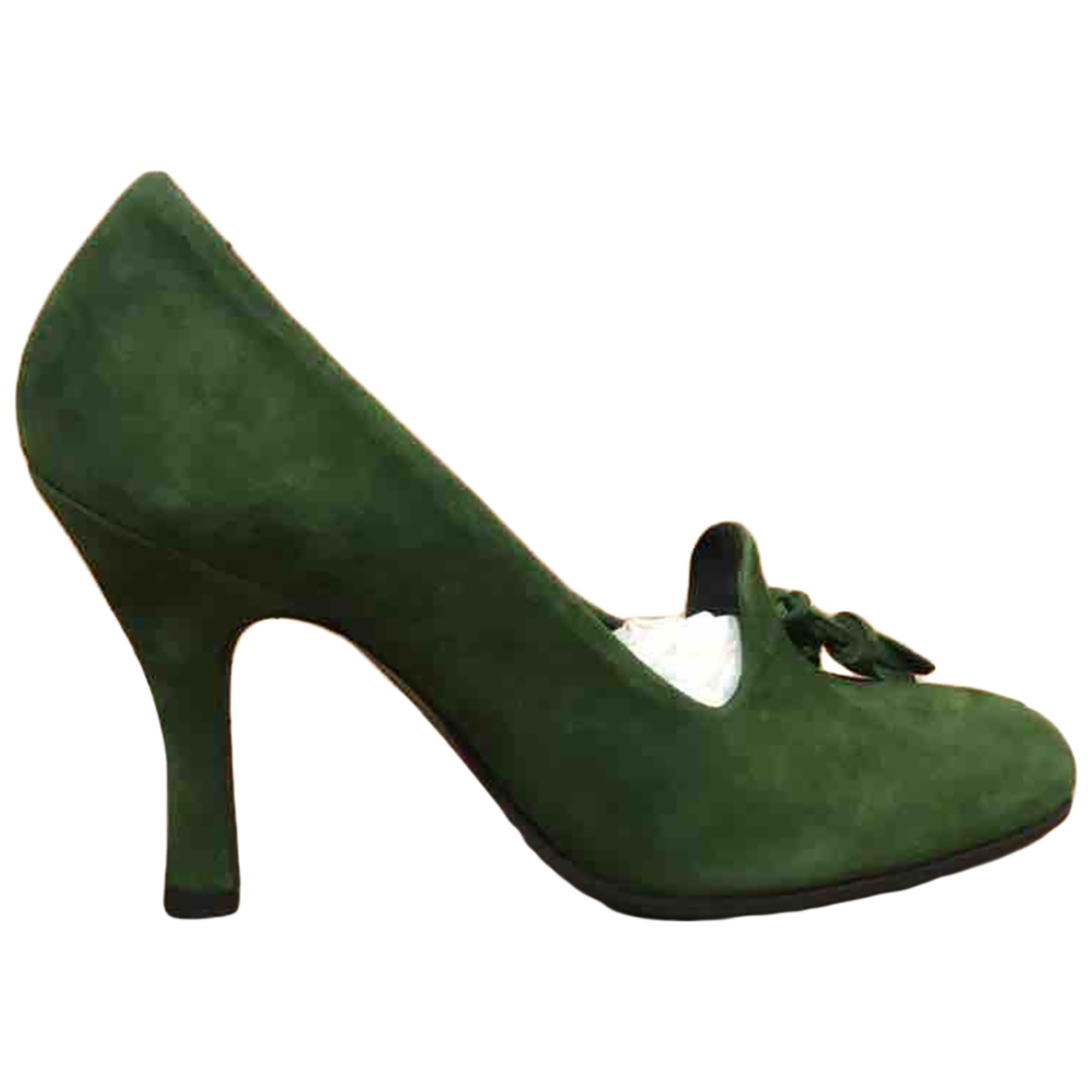 Non Signé / Unsigned \N Green Leather Heels for Women 36 EU