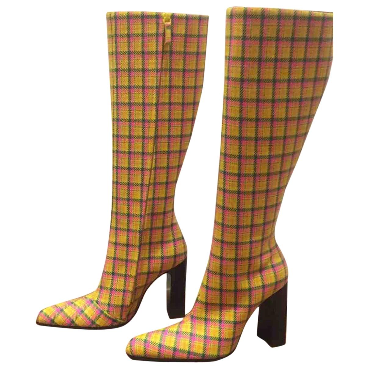 Balenciaga - Bottes   pour femme en toile - jaune