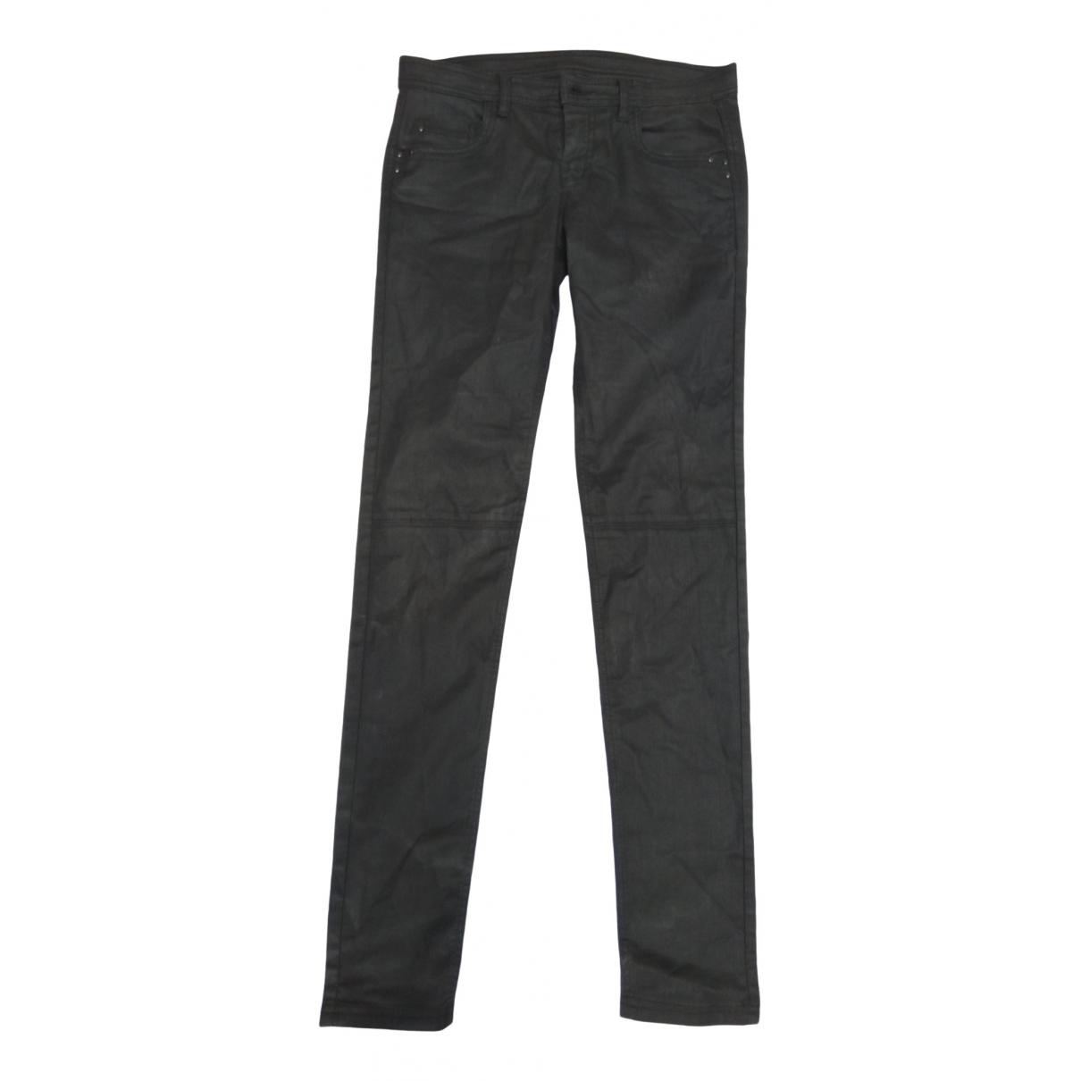 Comptoir Des Cotonniers \N Black Cotton Trousers for Women 38 FR