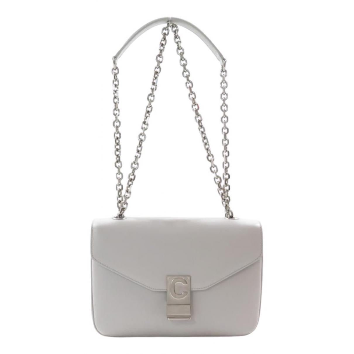 Celine C bag Handtasche in  Grau Leder