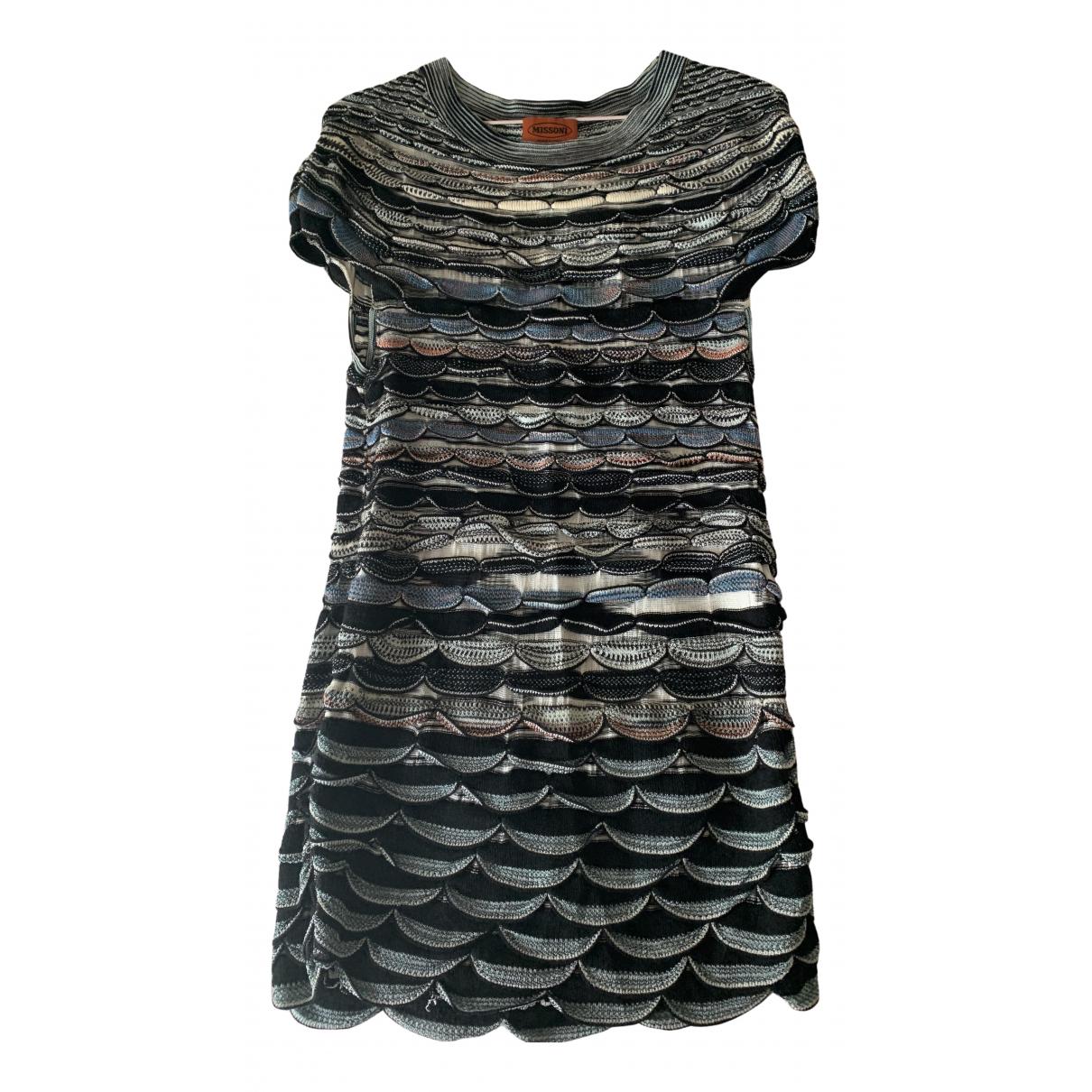 Missoni \N Kleid in  Blau Baumwolle - Elasthan