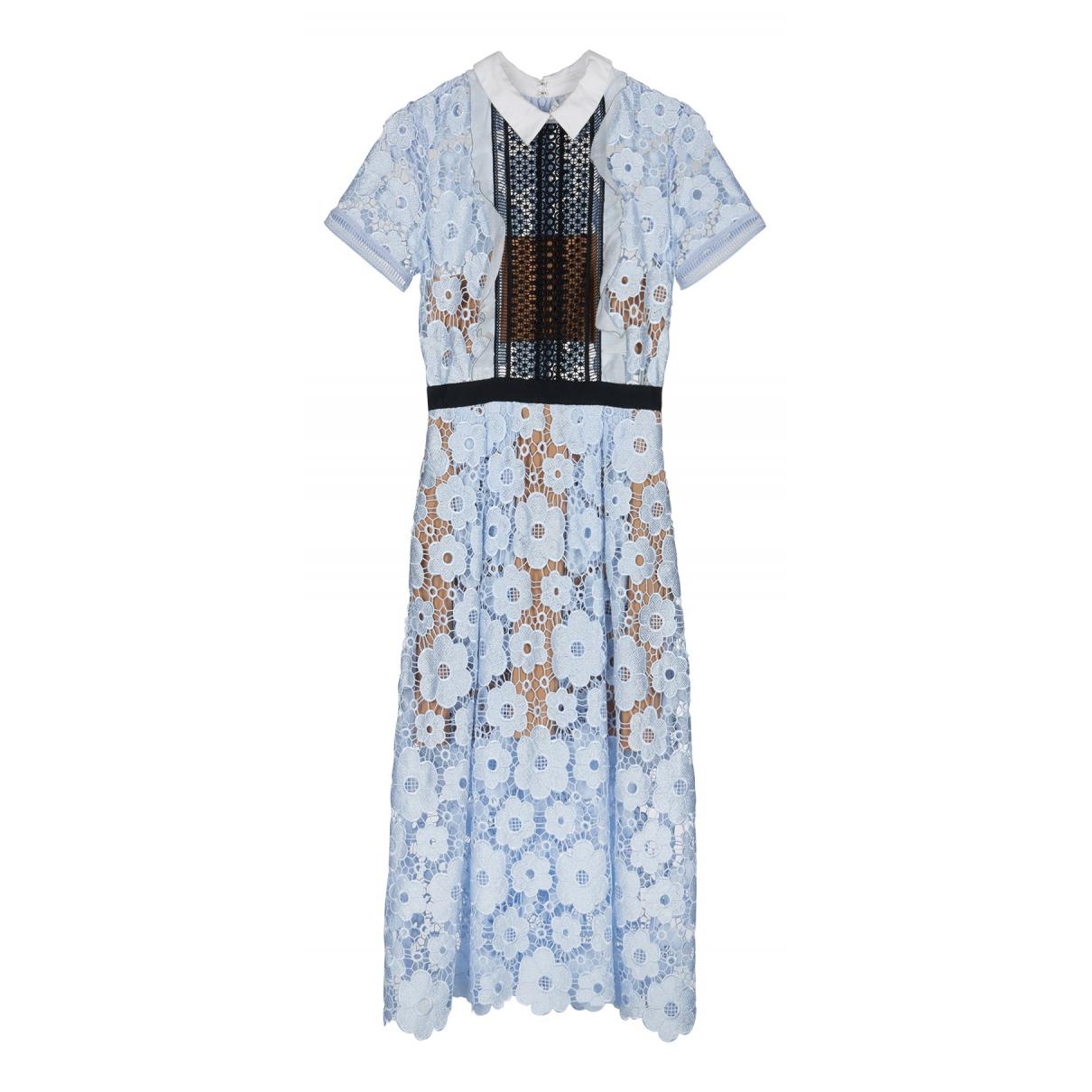 Self Portrait N Blue Cotton dress for Women 6 UK