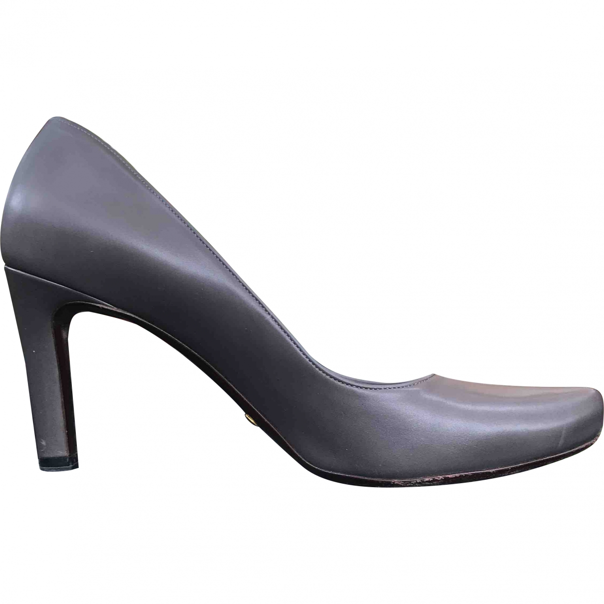Giorgio Armani \N Grey Leather Heels for Women 40 EU