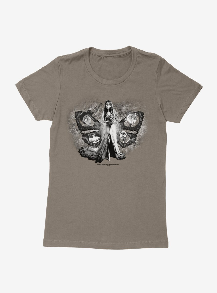 Corpse Bride Characters Butterfly Womens T-Shirt