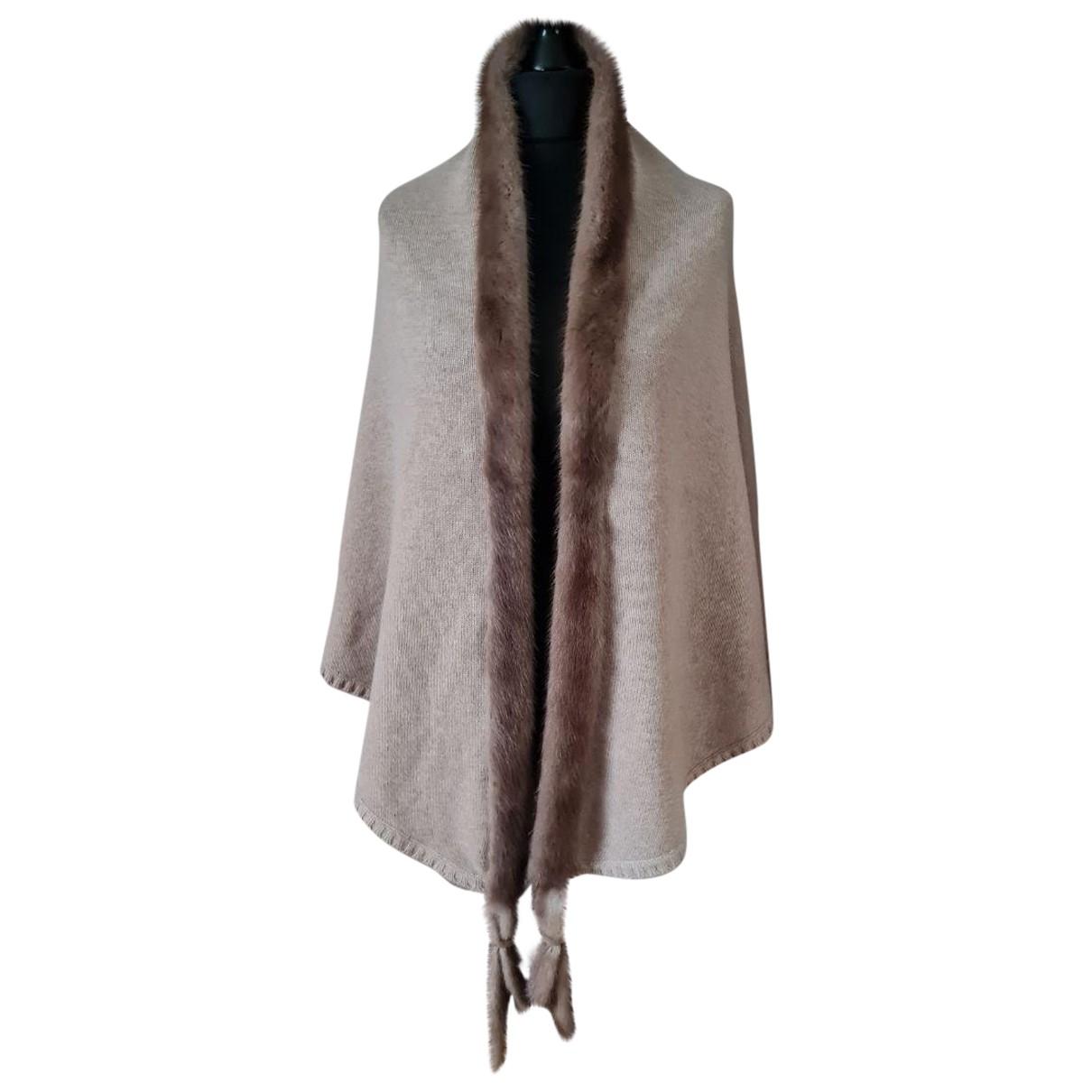 Max Mara - Foulard   pour femme en cachemire - beige