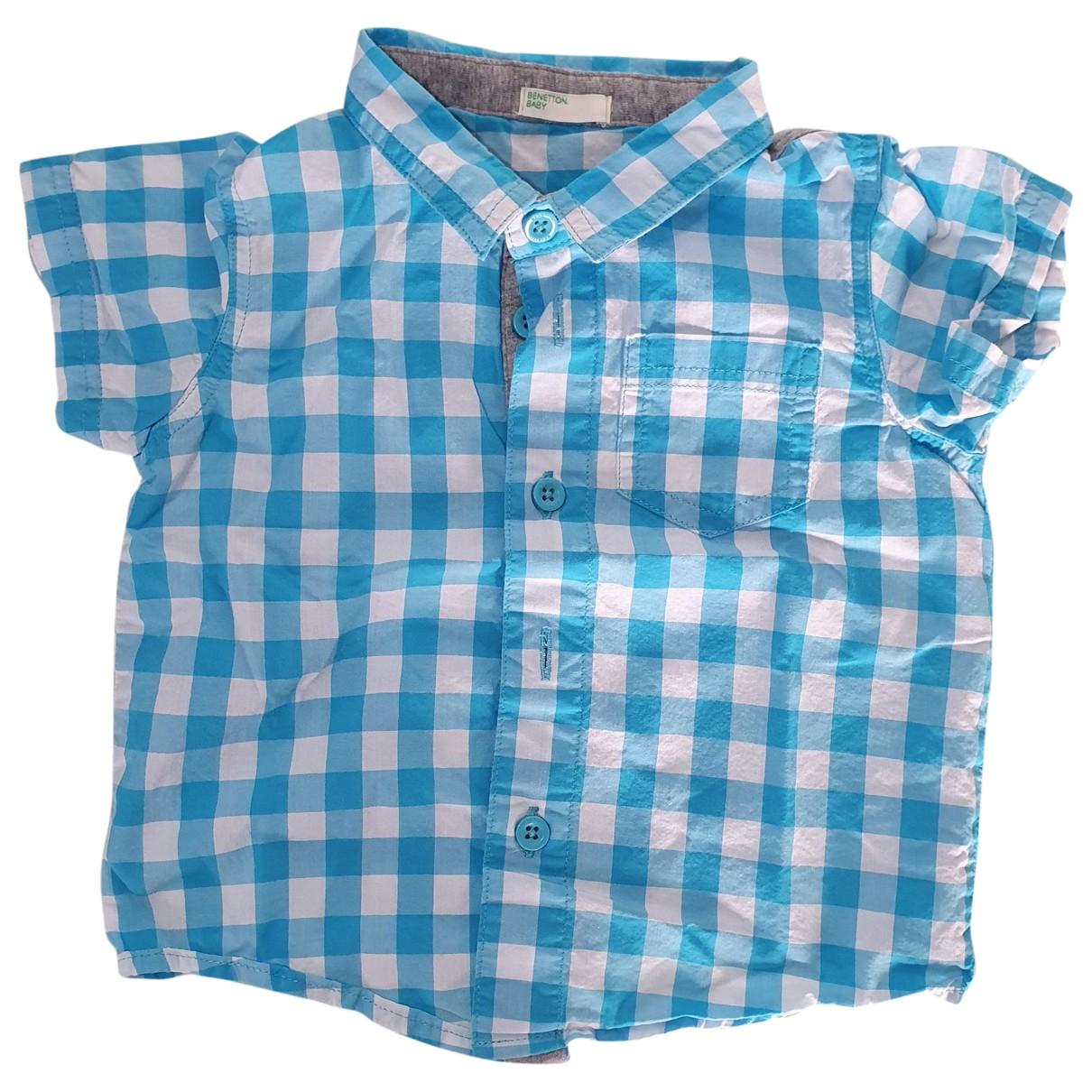 Benetton - Top   pour enfant en coton - turquoise