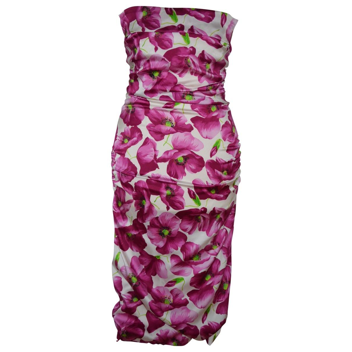 Dolce & Gabbana \N Pink Silk dress for Women 40 IT