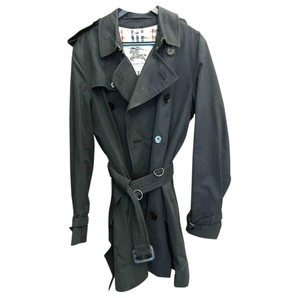 Burberry - Manteau   pour homme en coton - noir