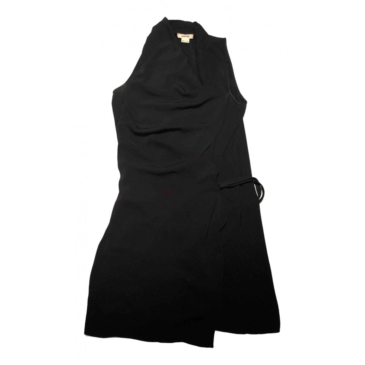 Helmut Lang \N Kleid in  Schwarz Polyester