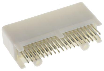 TE Connectivity , TH 025 Automotive Connector Socket 2 Row 40 Way, Solder Termination, Natural