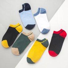 6 pares calcetines de color combinado