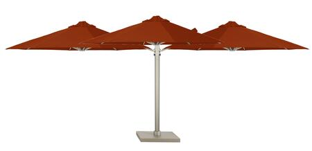 KITP6SQ25TRIOSPTCA (A) SU6 Trio 82/2.5m Square Umbrella in Surface Plate in