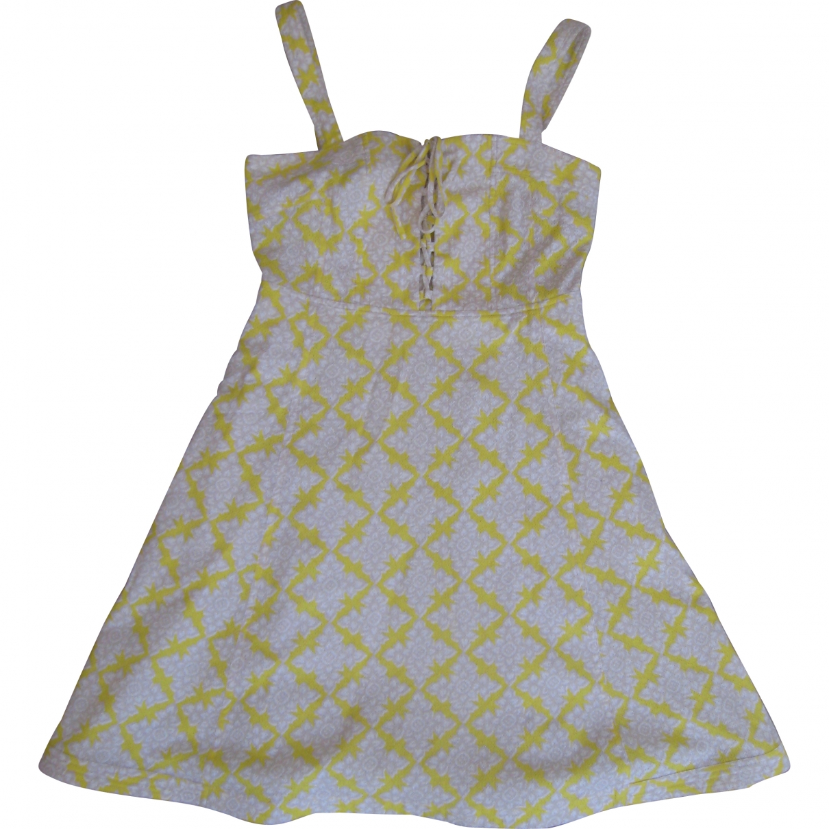 Diane Von Furstenberg \N Yellow Cotton dress for Women 8 US