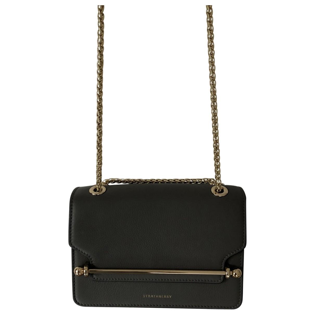 Strathberry \N Handtasche in  Grau Leder