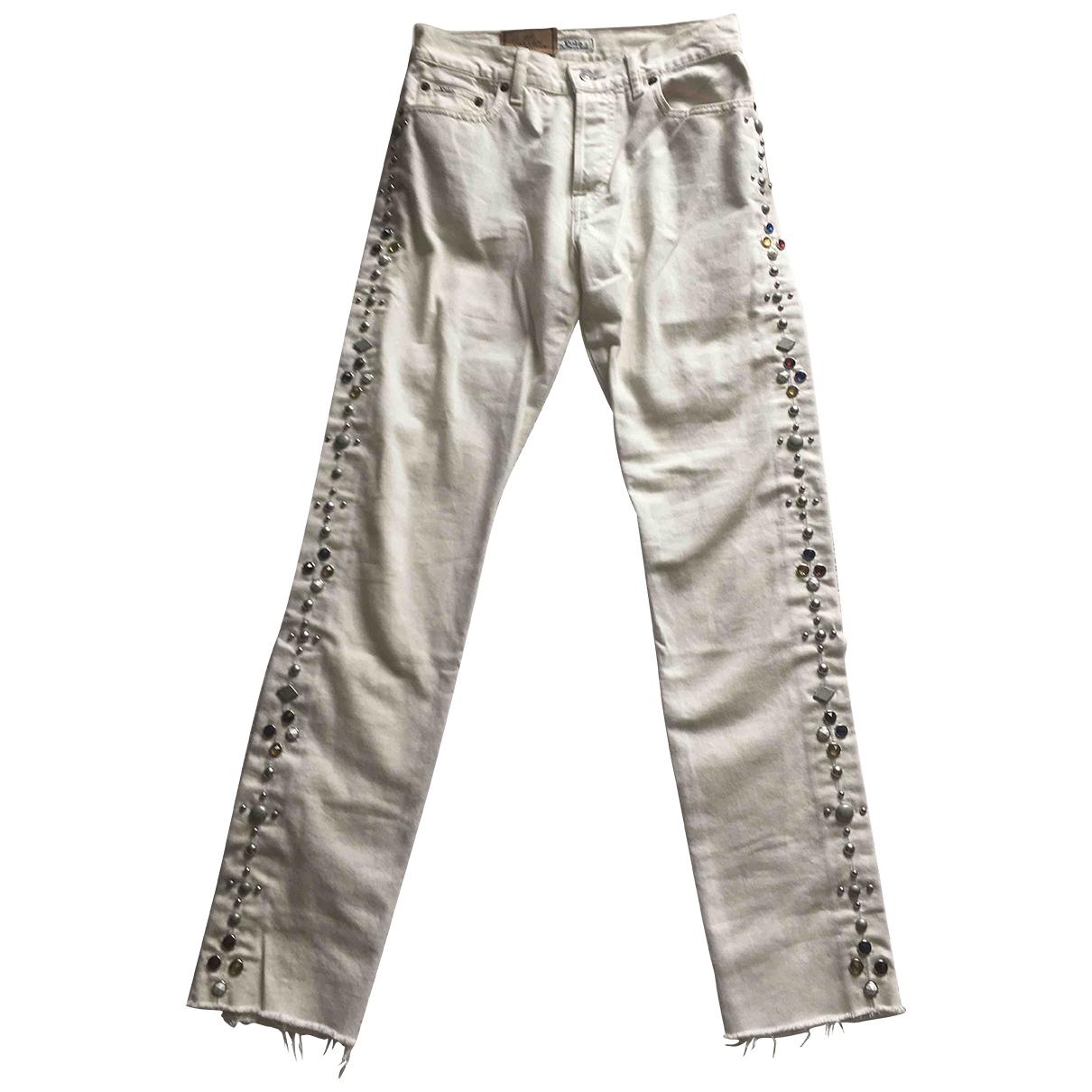 Polo Ralph Lauren \N White Denim - Jeans Trousers for Women XS International