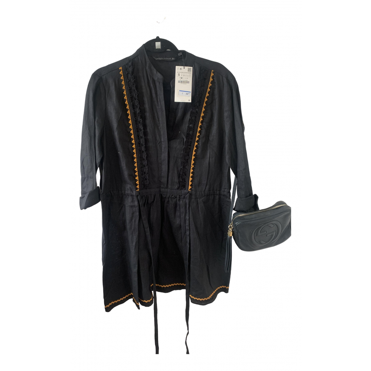 Zara N Black Linen dress for Women S International