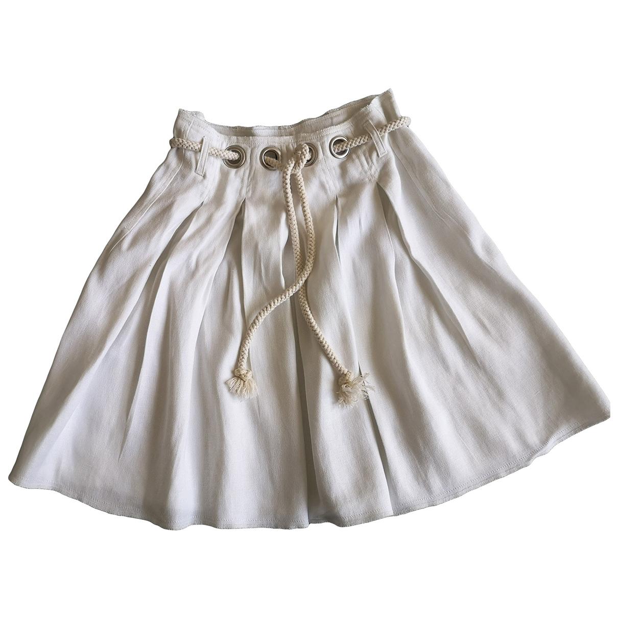Sonia Rykiel - Jupe   pour femme en lin - blanc