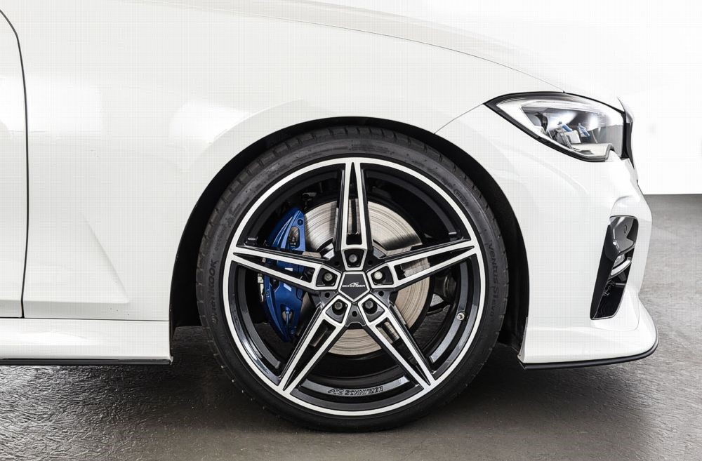 AC Schnitzer 82353216227 AC1 BiColor Staggered Wheel Set w/ Michelin Tires 20