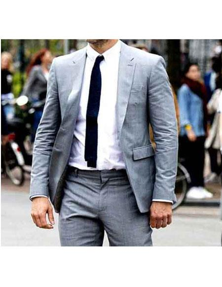 Men's Hitman Ryan Renolds Notch Lapel Grey 2 Button Fully Lined Suit