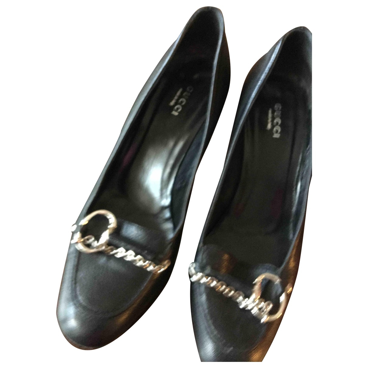 Gucci \N Black Leather Heels for Women 37.5 EU