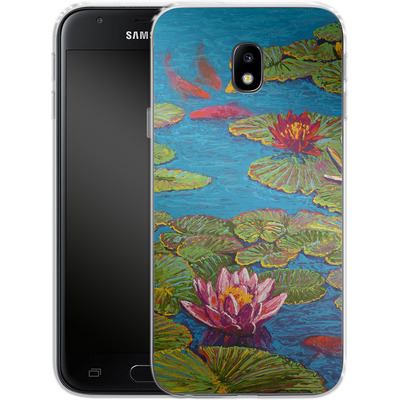 Samsung Galaxy J3 (2017) Silikon Handyhuelle - Will Cormier - Six Koi in Lilly Pond von TATE and CO