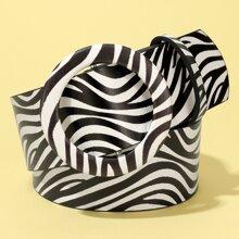 Guertel mit Zebra Streifen Muster