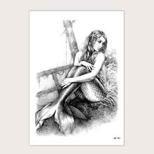 1 Blatt Tattoo Aufkleber mit Meerjungfrau Muster