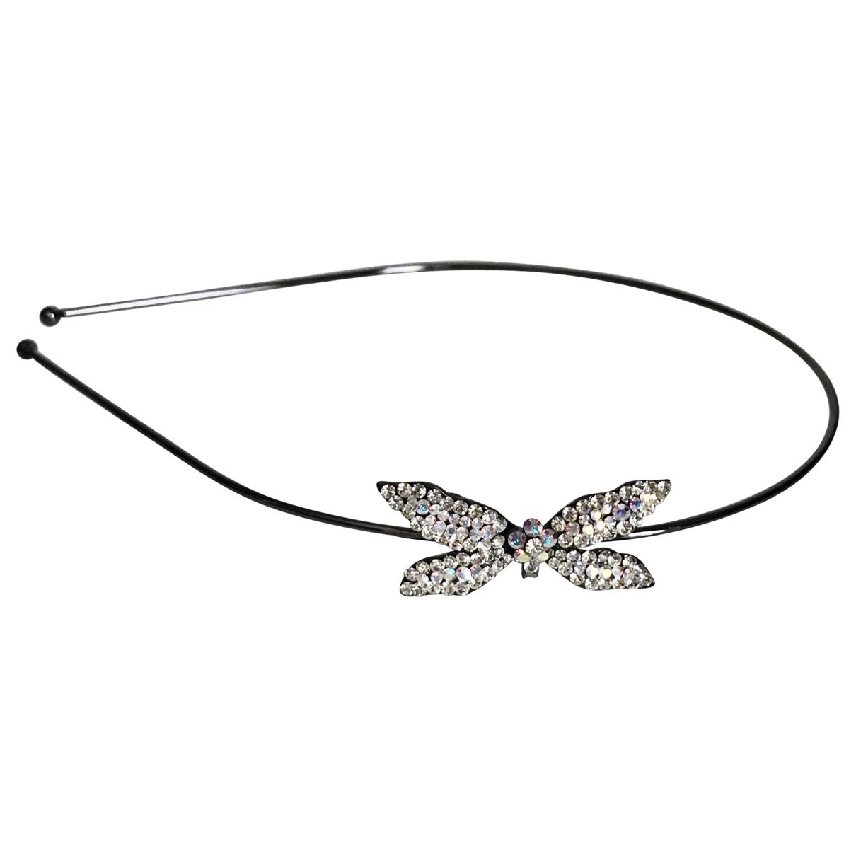 - Bijoux de tete   pour femme en cristal - argente