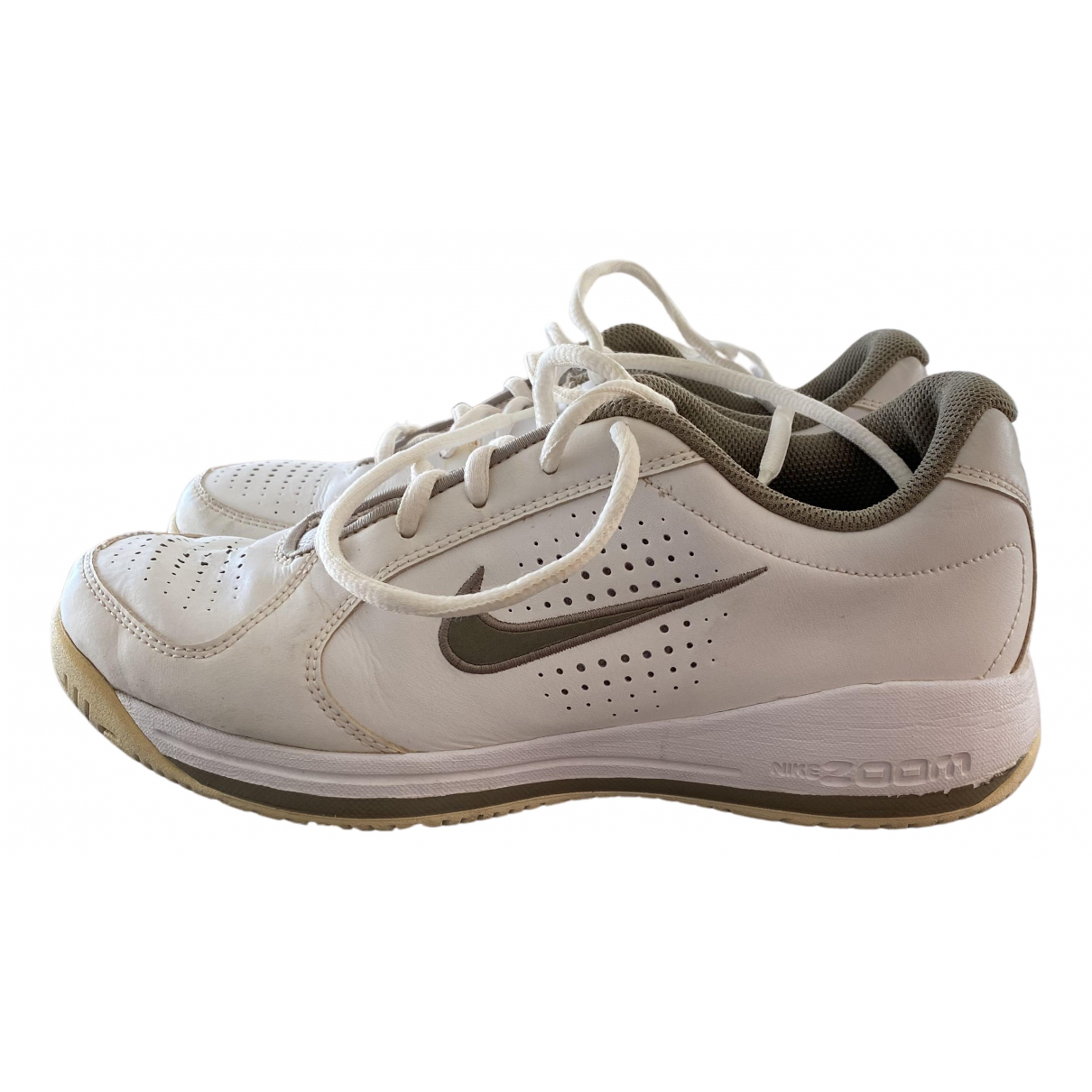Nike Zoom White Leather Trainers for Women 5.5 UK
