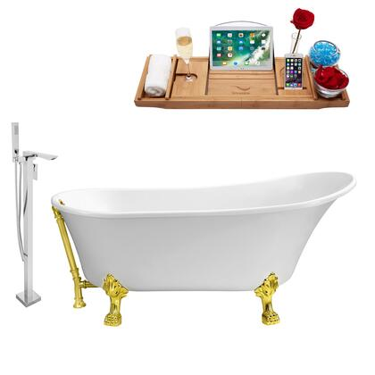 NH340GLD-GLD-140 Faucet and Tub Set with 67