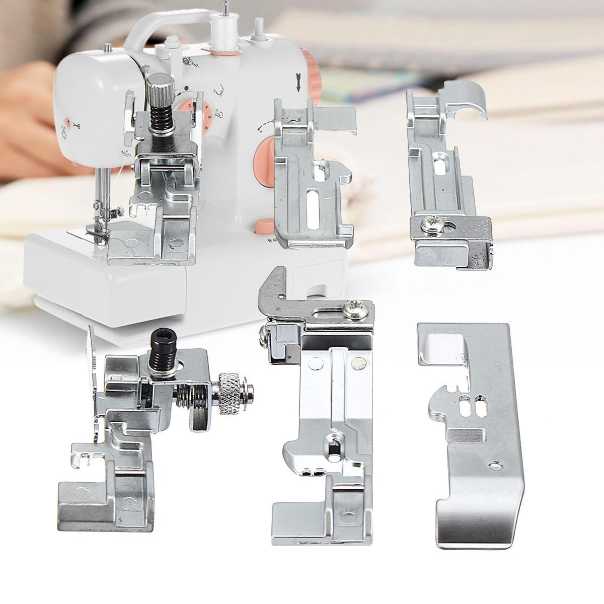 6pcs Presser Optional Overlock Feet Foot Pack for Juki Lock MO-50E MO-51E Sewing Tools