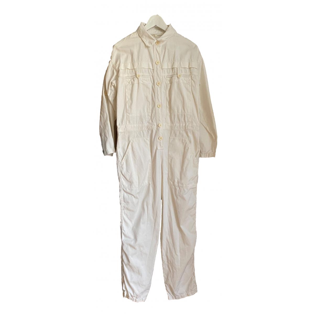 Maje - Combinaison   pour femme en coton - blanc