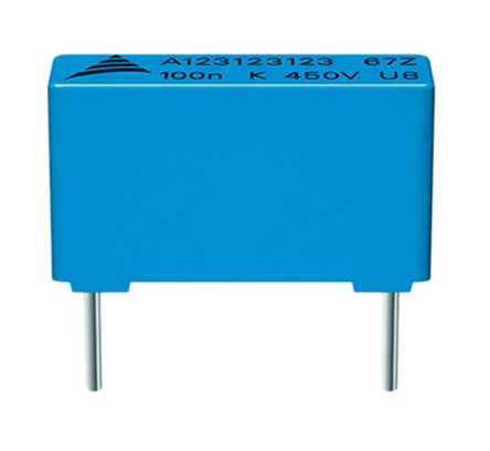 EPCOS 3.3μF Polypropylene Capacitor PP 300 V dc, 450 V dc ±10% Tolerance B32674 Series (5)