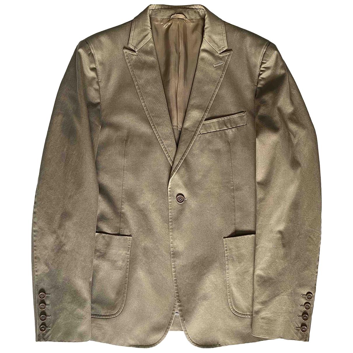 Costume National \N Khaki Cotton jacket  for Men 48 IT