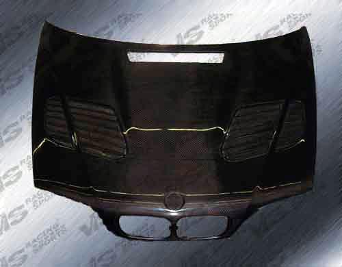VIS Racing 99BME464DGTR-010C Carbon Fiber GTR Style Hood BMW 325Ci E46 4dr 2001