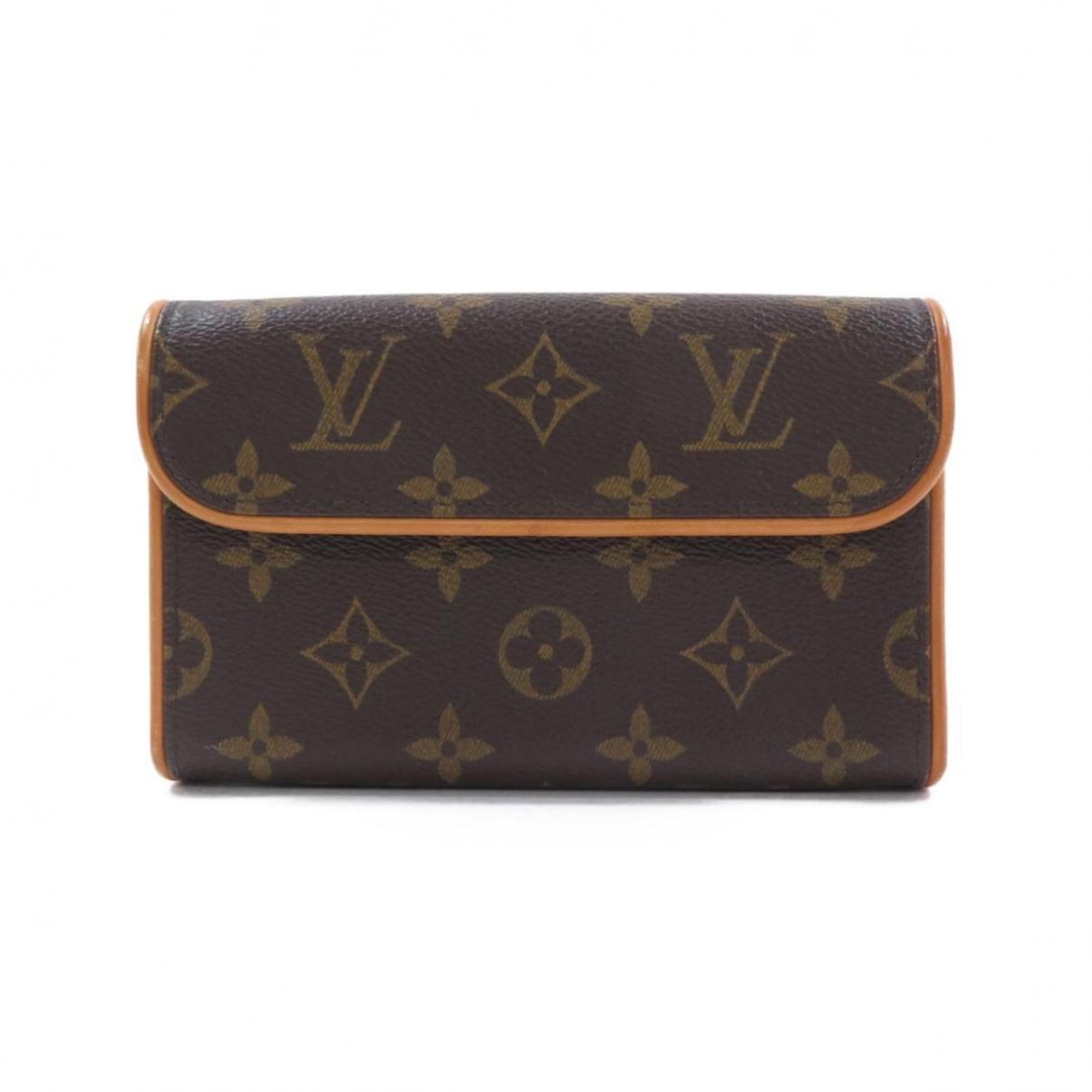 Louis Vuitton Florentine Brown Cloth Clutch bag for Women \N