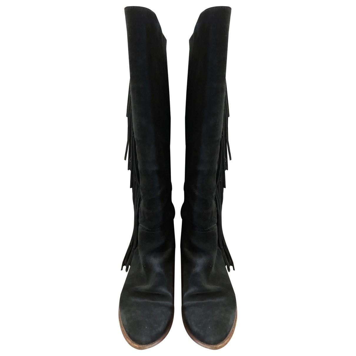 Polo Ralph Lauren - Bottes   pour femme en suede - noir