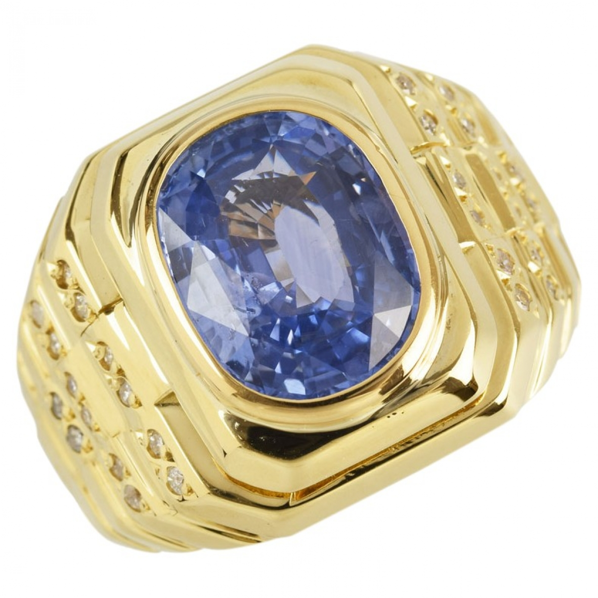 Non Signe / Unsigned Chevalieres Ring in  Gold Gelbgold