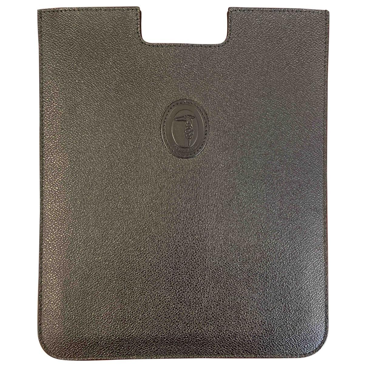 Trussardi - Petite maroquinerie   pour homme en cuir - noir