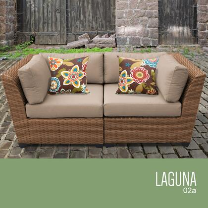 LAGUNA-02a Laguna 2 Piece Outdoor Wicker Patio Furniture Set 02a with 1 Cover in