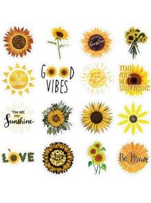 50pcs Sunflower Sticker