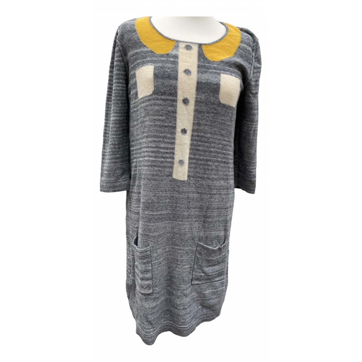 Sonia By Sonia Rykiel \N Kleid in  Grau Baumwolle