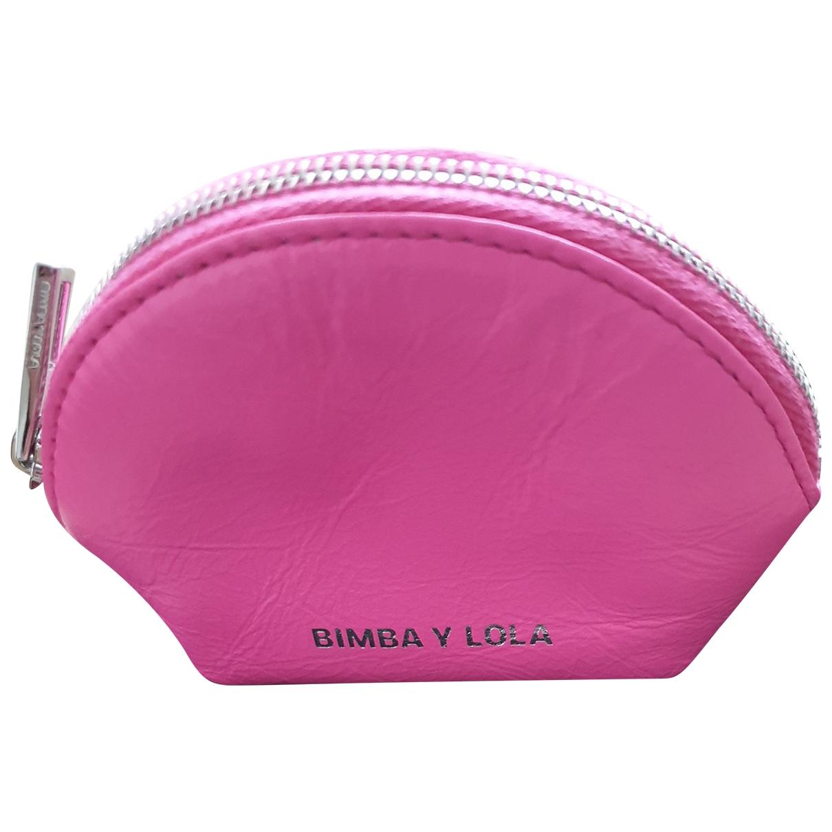 Bimba Y Lola - Petite maroquinerie   pour femme en cuir - rose
