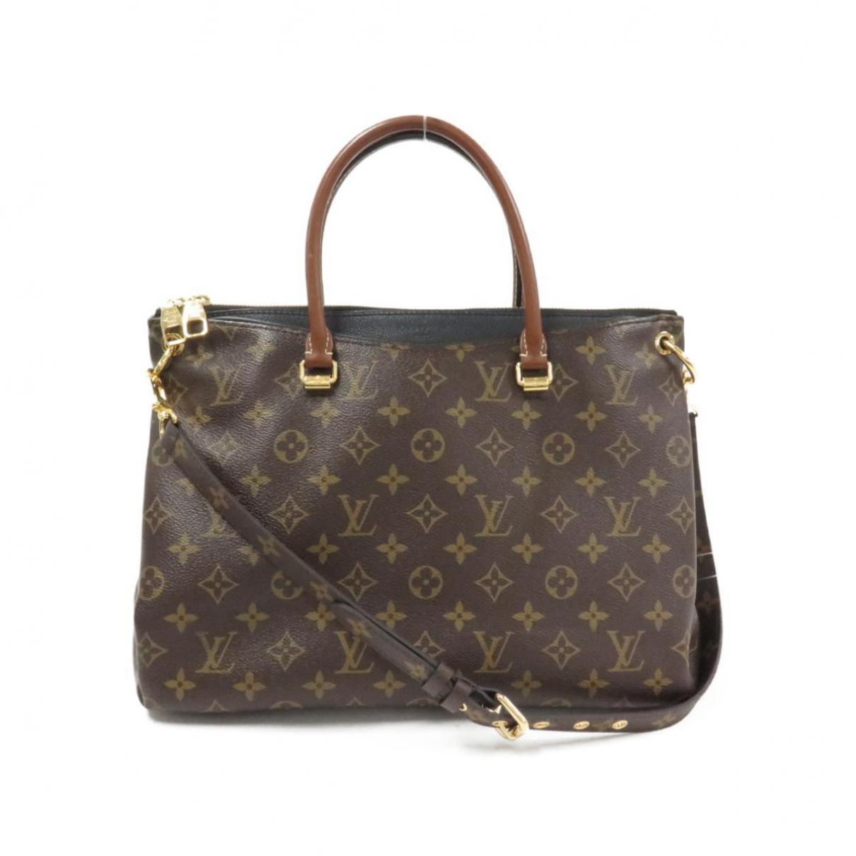 Louis Vuitton Pallas Handtasche in  Braun Leinen