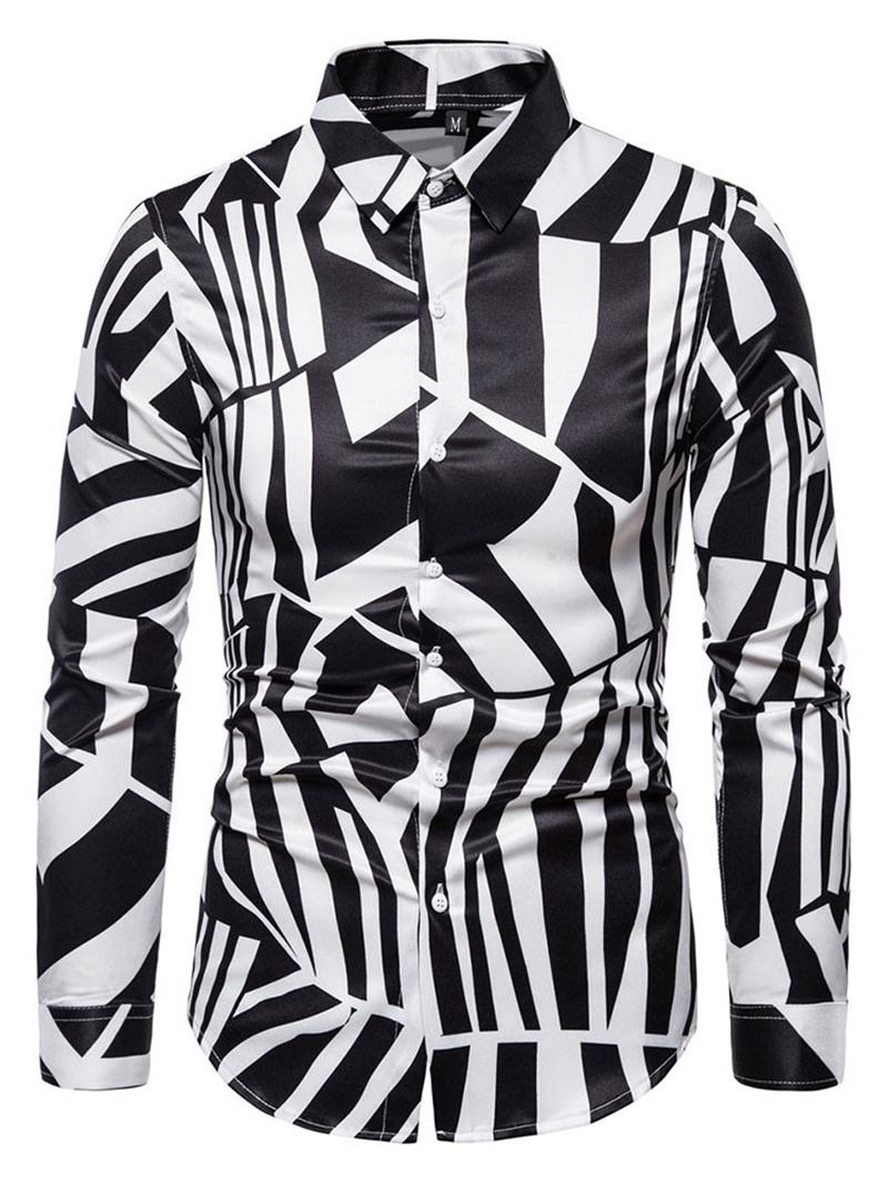 Ericdress Casual Print Lapel Slim Shirt