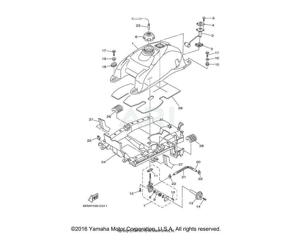 Yamaha OEM 5KM-24500-10-00 FUEL COCK ASSY 1