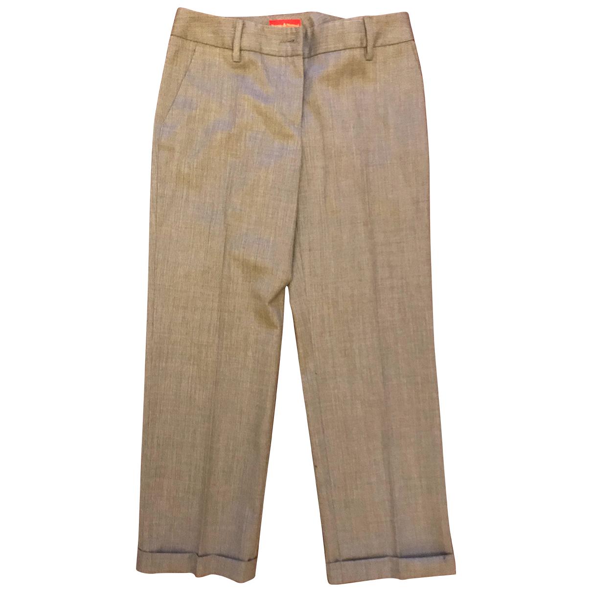 Vivienne Westwood N Grey Wool Trousers for Women 40 IT