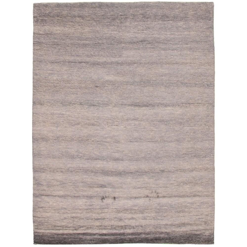 ECARPETGALLERY  Hand-knotted Pak Finest Gabbeh Grey Wool Rug - 8'0 x 10'8 (Grey - 8'0 x 10'8)